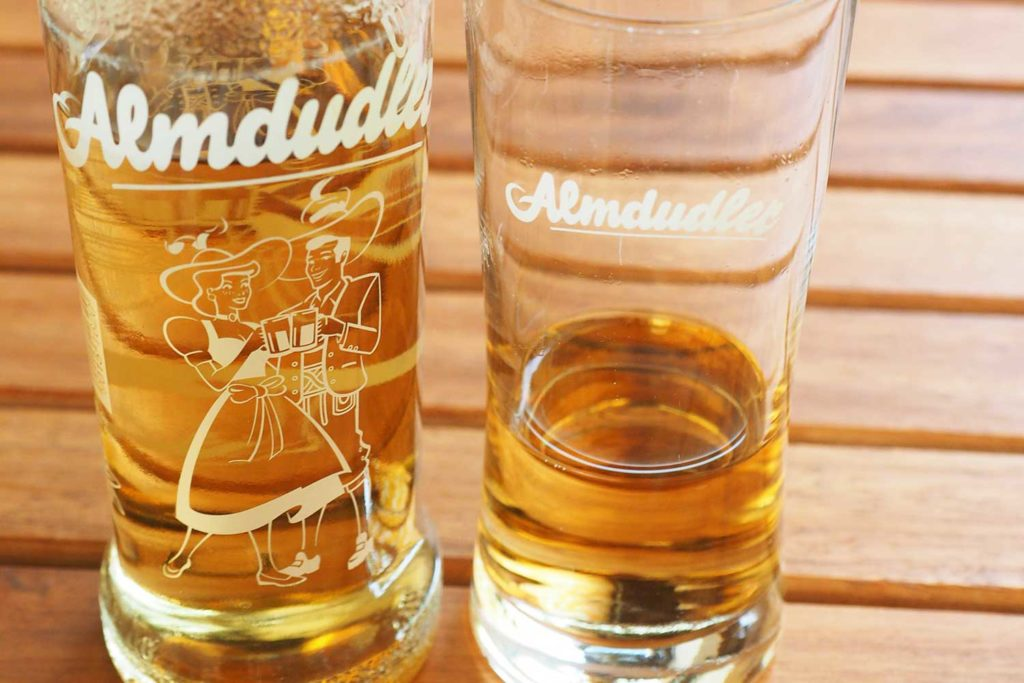 Almdudler soft drink - goes great with austrian dishes