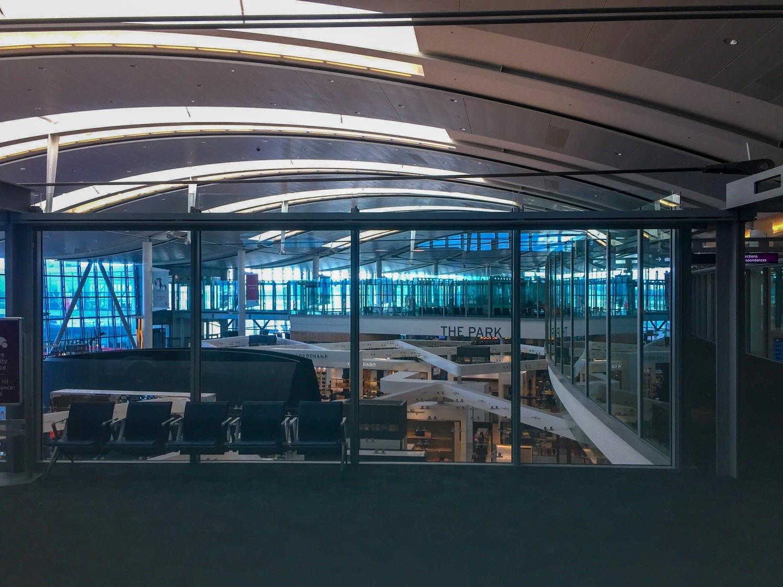 Plaza Premium International T1 mezzanine view