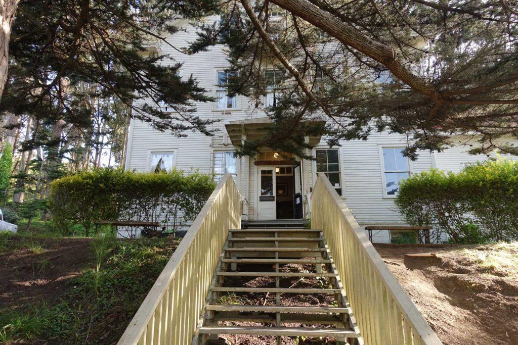Marin Headlands Hostel side entrance