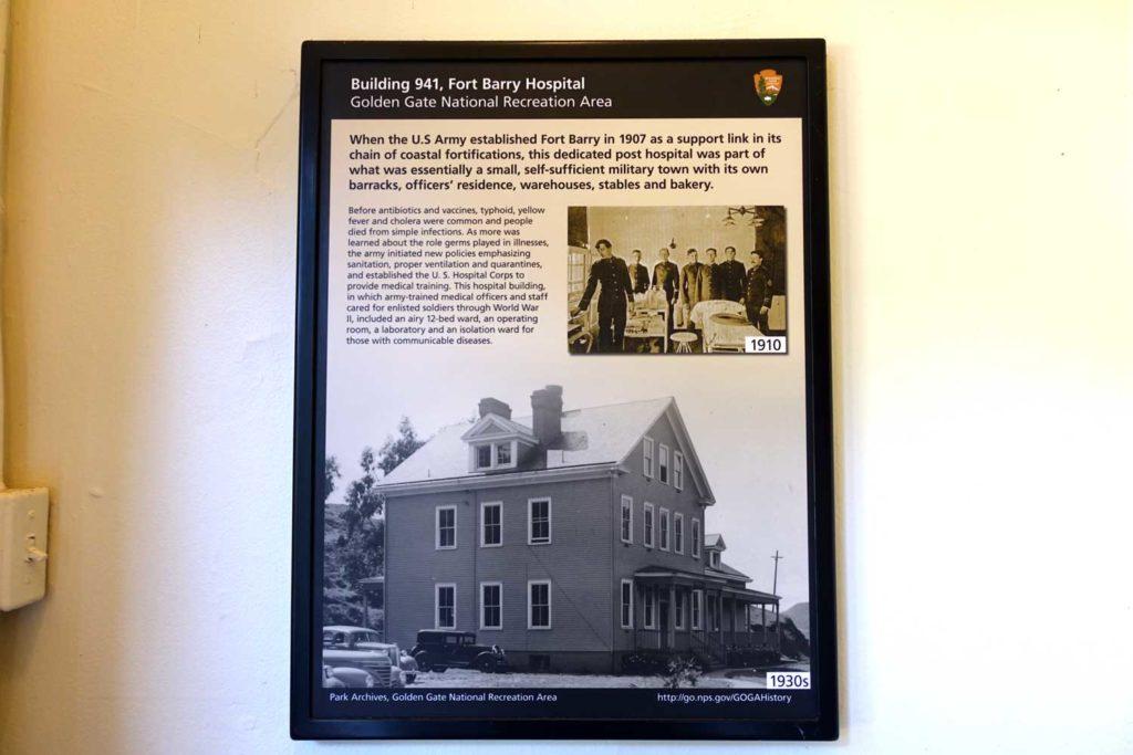 Marin Headlands Hostel History explanation poster