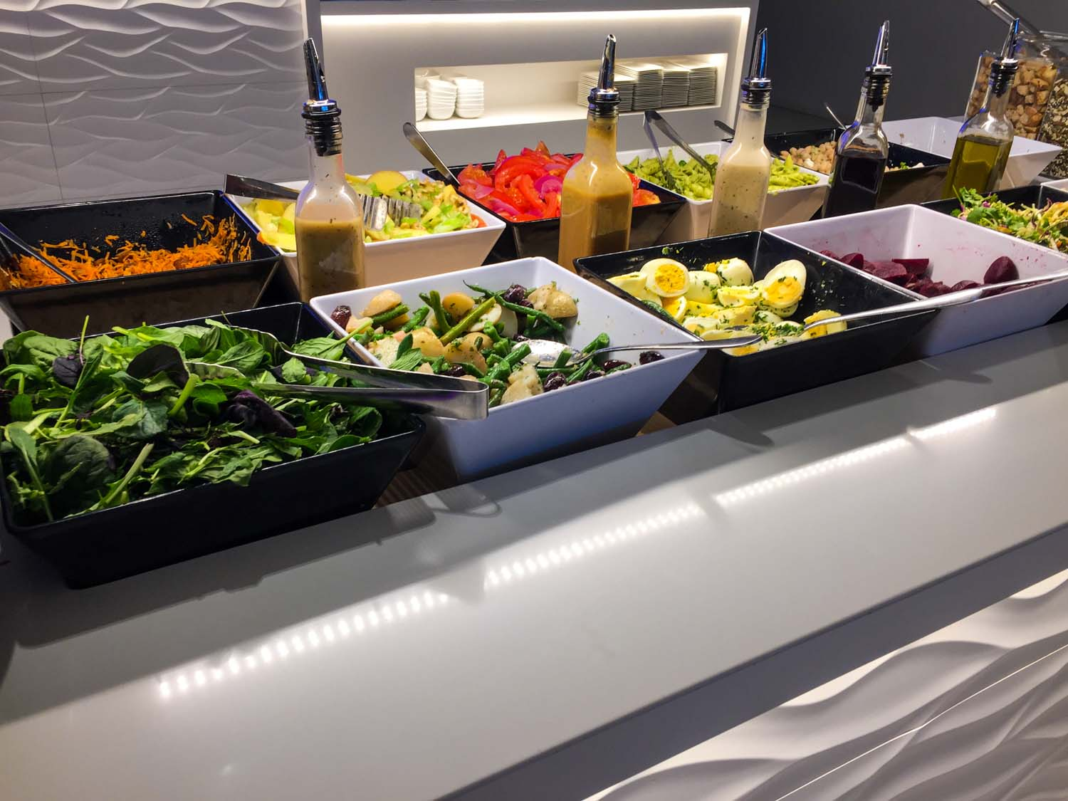 Air New Zealand International Lounge Auckland salad bar