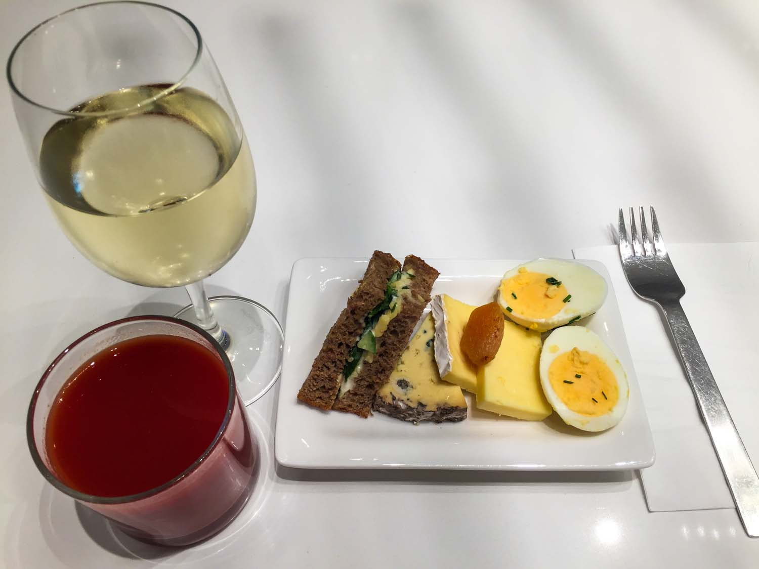 Air New Zealand International Lounge Auckland - my meal