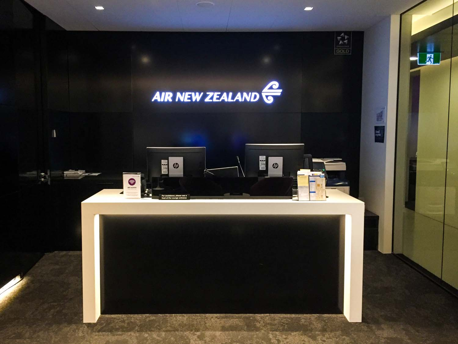 Air New Zealand International Lounge auckland reception