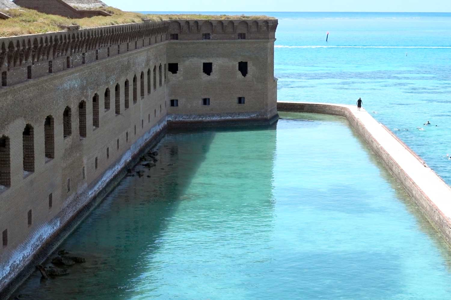 dry tortugas national park moat