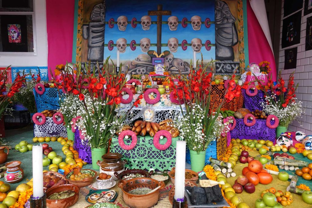 Day of the dead ofrenda in San Andres MIxquic