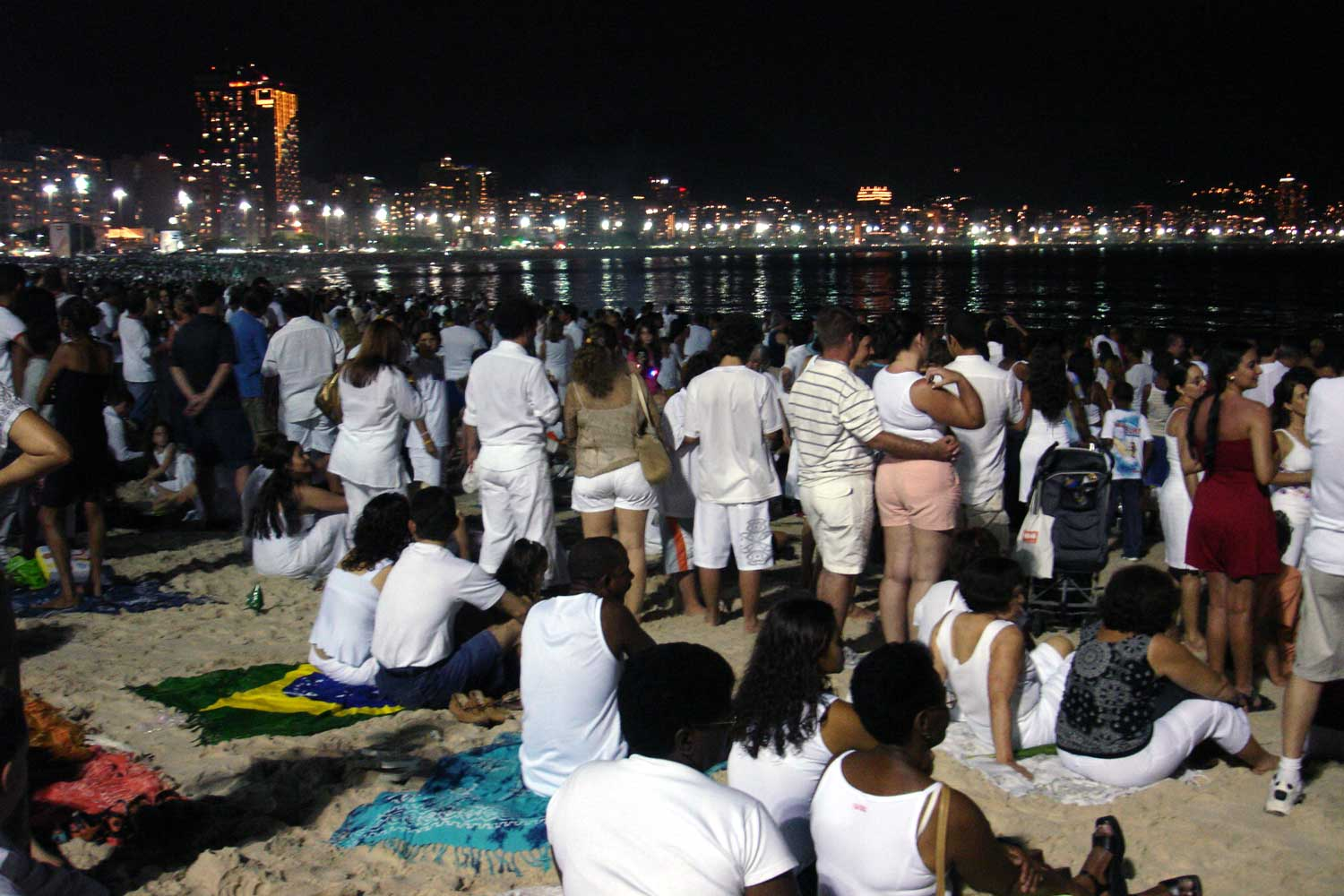 Brazilian New Years Eve on Copacabana beach