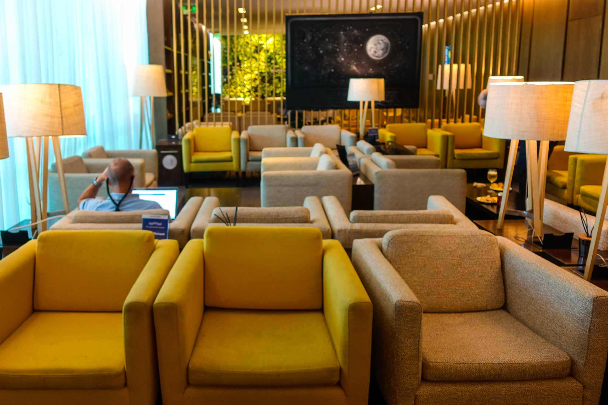 sofas at American Express Centurion Lounge Buenos Aires
