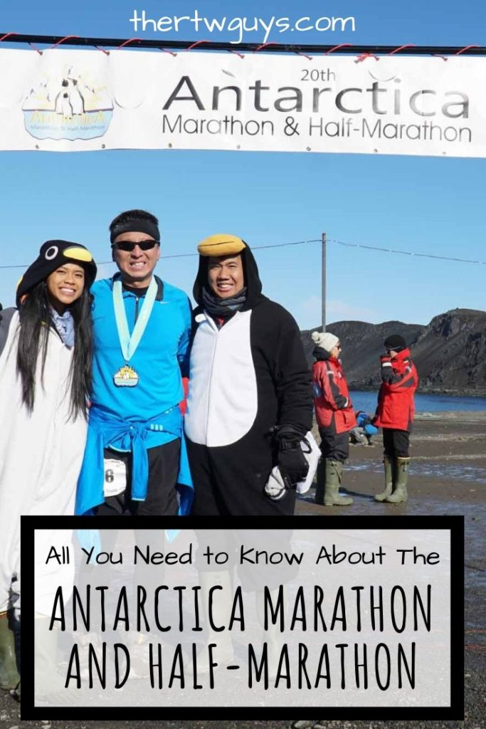 antarctica marathon halef at finish line pinterest