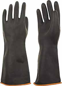 Heavy duty ruber gloves make great clothing for antarctica