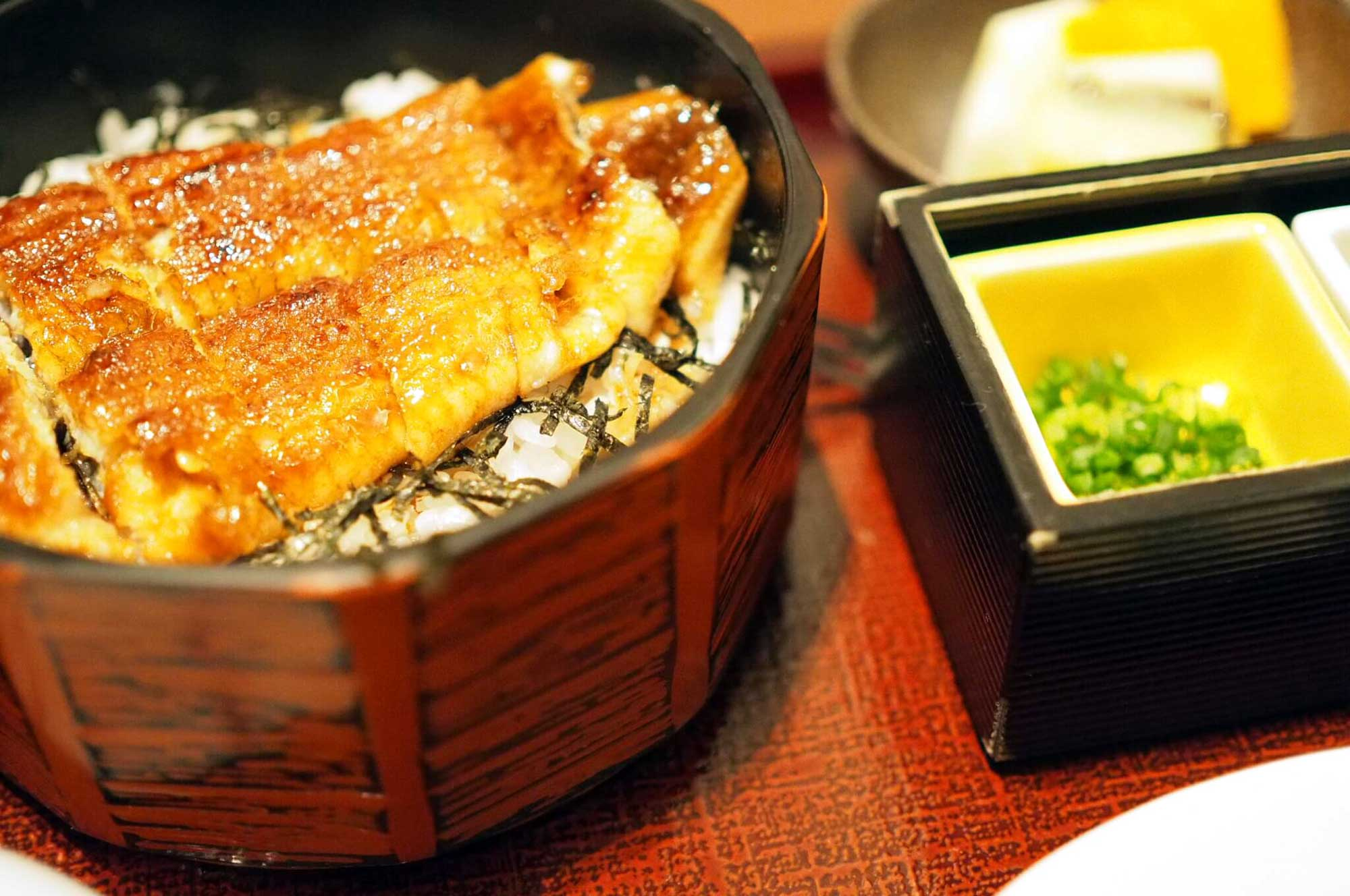 Hitsumabushi - Grilled Eel in a serving box