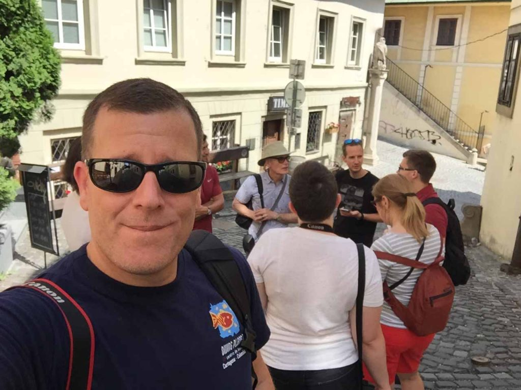 Michael selfie on Bratislava free walking tour