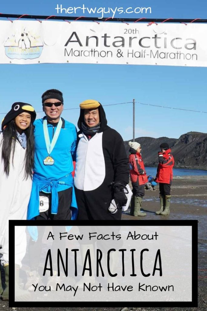 Halef at Antarctica Marathon finish line pinterest