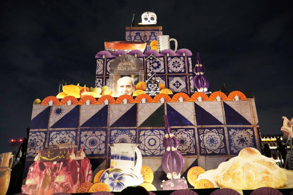 a large ofrenda in mexico city's zocalo