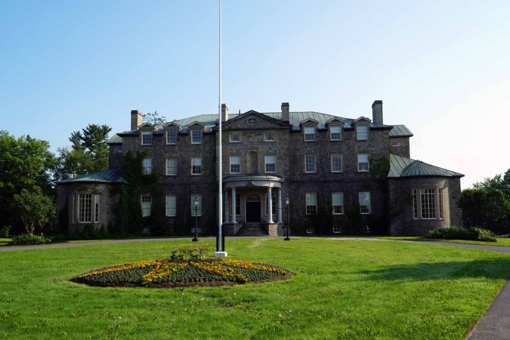 Old Government House in Fredericton - a large stone mansion