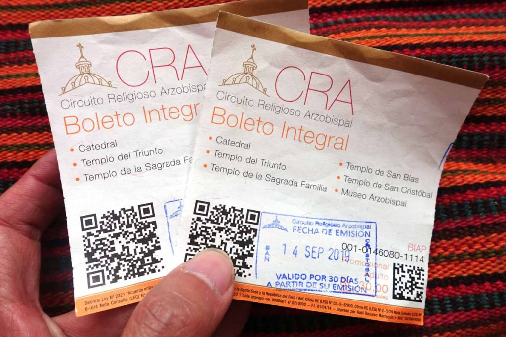 Photo of the Cusco Religious Circuit ticket
