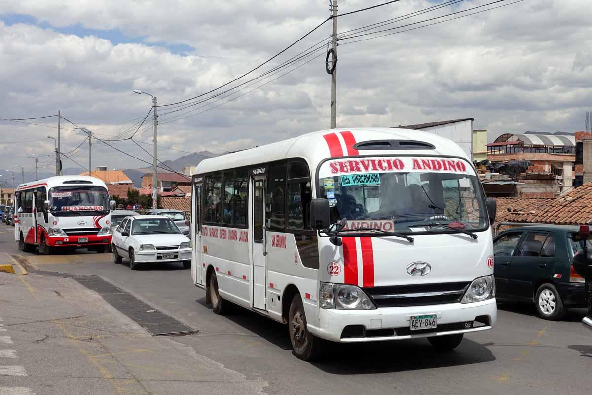 The Servicio Andino bus in Cusco, Peru.