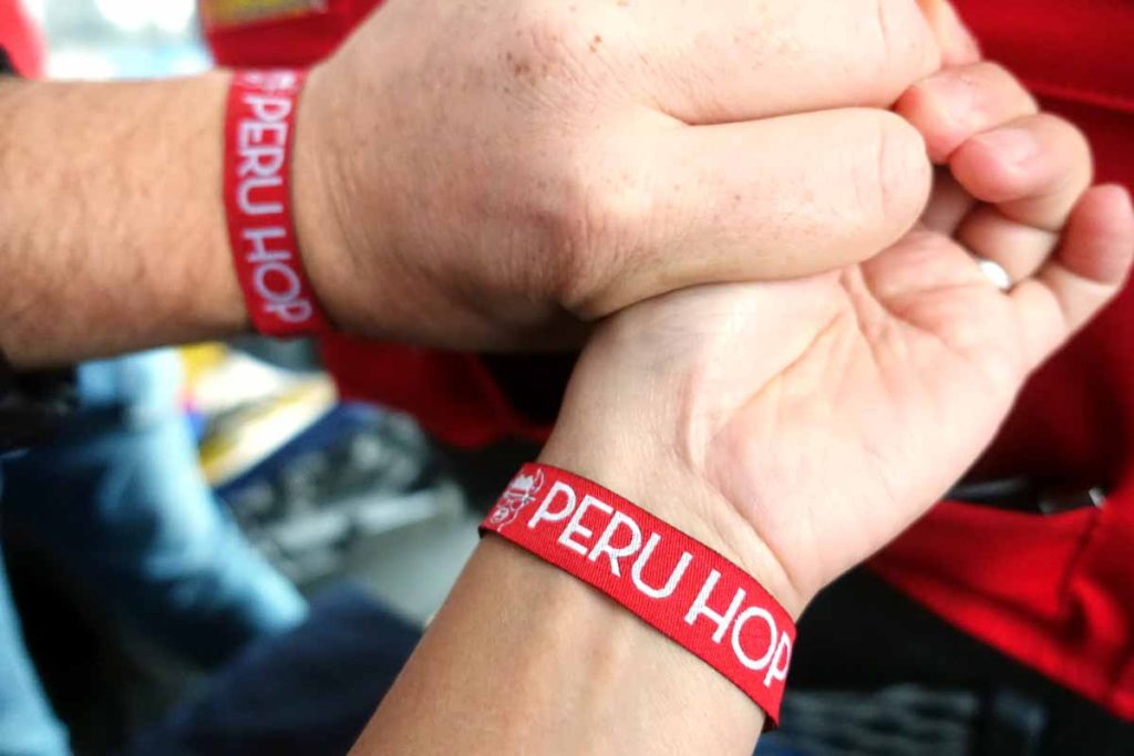 Peru Hop wrist bands
