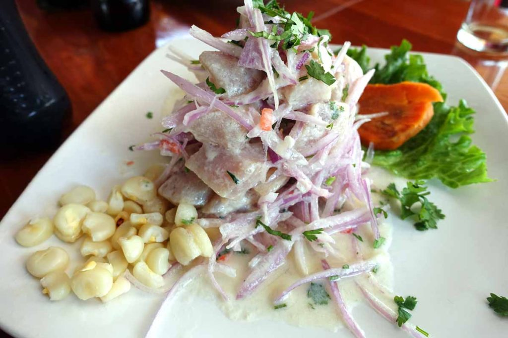 Authentic peruvian food - Ceviche is Peru's national dish