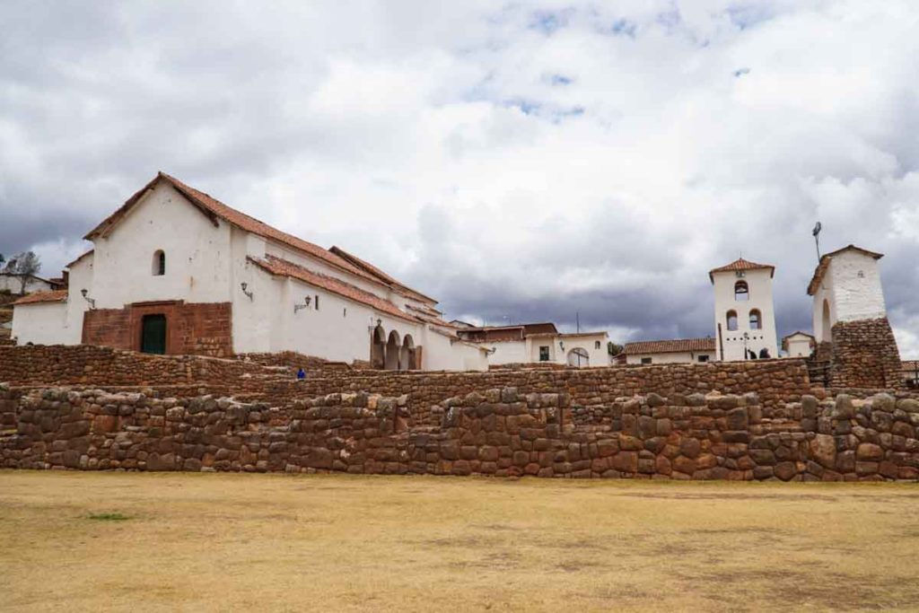 The church at Chinchero colonial town.