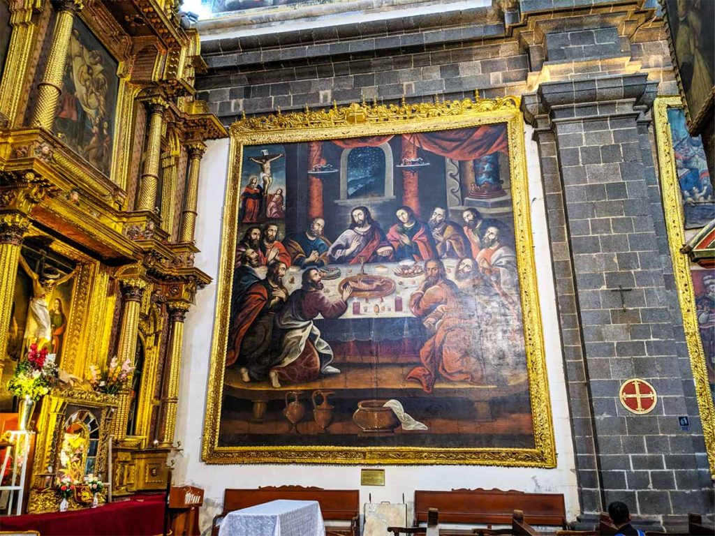 Use your Cusco Religious Circuit ticket to visit the main cathedral and see this - the Last Supper with Guinea pig