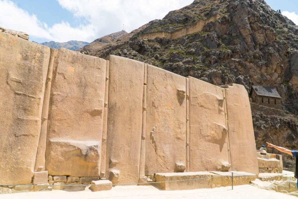 The temple of the sun - giant carved stones, in Ollantaytambo