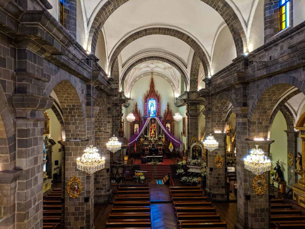 San Francisco Monastery is one of the overlooked things to do in Cusco. This is the interior of the church