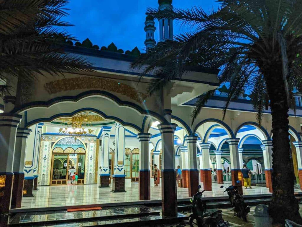 The entrance to Masjid Baitul Muttaqinin Karimunjawa