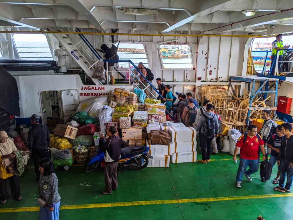 The Karimunjawa slow ferry cargo hold