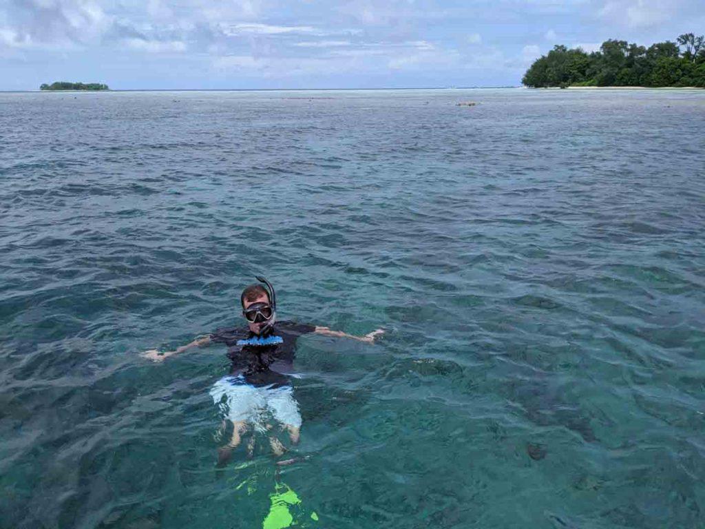 Michael snorkeling in Karimunjawa.