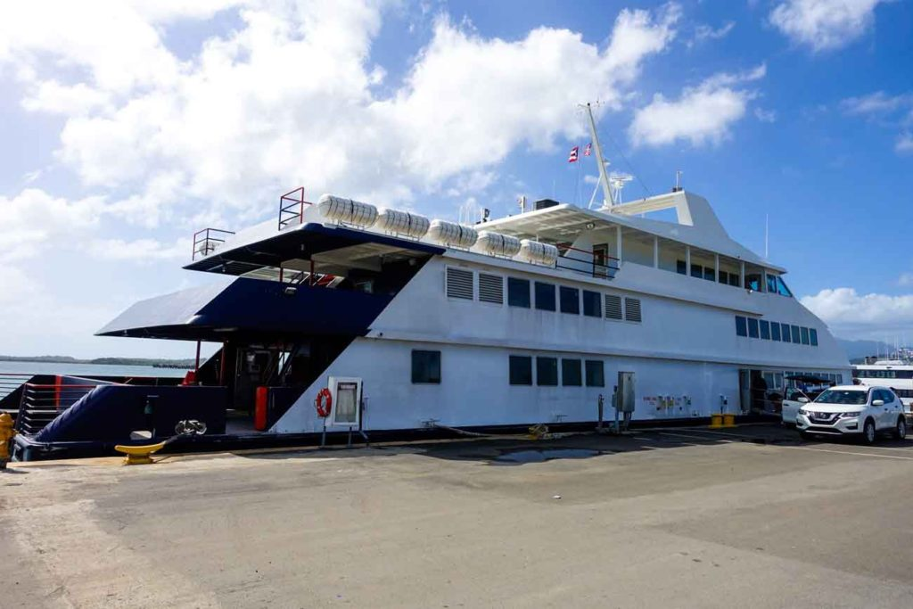 The Vieques Ferry at the dock in Ceiba
