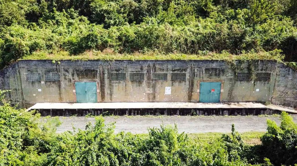 A view of one of the military bunkers from above. Add this option to your Vieques 3-day itinerary. It's very unique.